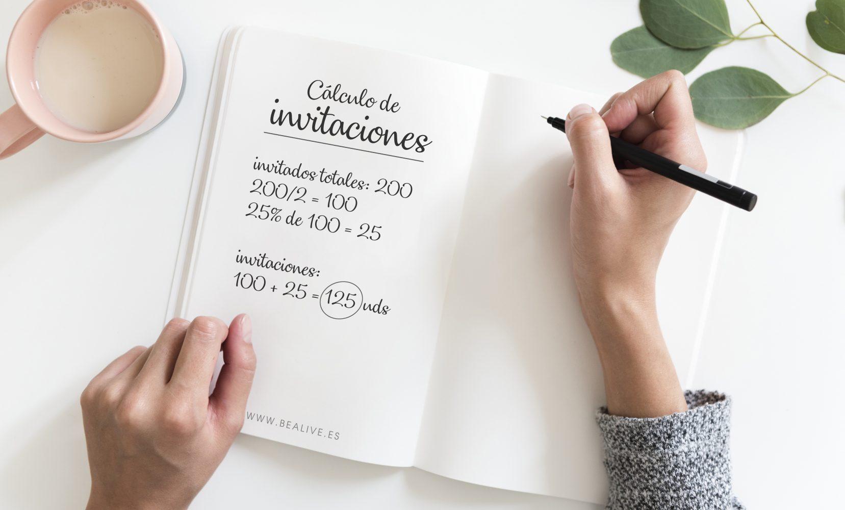 Calcula cuántas invitaciones necesitas