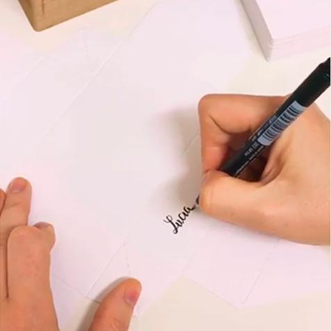 Making of: cajitas caligrafiadas